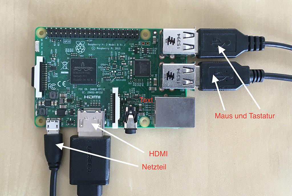 Raspberry Pi verkabeln